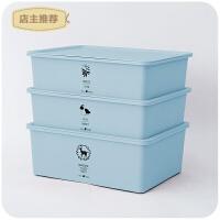 内衣收纳盒三件套有盖塑料格子抽屉式装内裤的盒子袜子整理箱家用SN0749