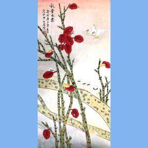 北京市美术家协会会员,北京市著名工笔画画家凌雪(秋叶承露)