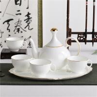 中式陶瓷咖啡具客厅茶杯茶具水具欧式家用杯子咖啡杯水杯套装 6件