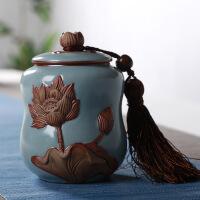 紫砂茶叶罐陶瓷醒茶罐子陶瓷罐密封罐茶叶盒茶叶包装盒茶盒