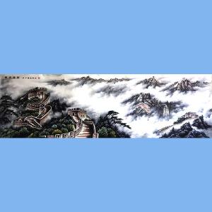彩墨山水大师张国民入室弟子,大北方中国画艺术研究院研究员李建寨(长城雄姿)1