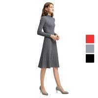 【网易严选 顺丰配送】女式全成型修身100%羊毛连衣裙