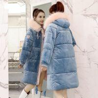 棉衣女中长款学生韩版冬季外套女bf面包服