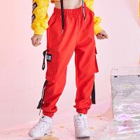 儿童街舞套装嘻哈女童爵士舞服装秋季露脐少儿舞蹈演出服潮酷表演