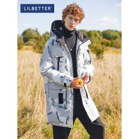 2.5折价:397;Lilbetter羽绒服男帅气冬季中长款外套保暖加厚男士迷彩羽绒衣潮