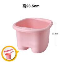 家居用品带盖加高加厚足浴桶 按摩保温泡脚桶足浴盆 塑料手提洗脚桶洗脚盆