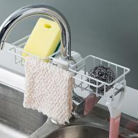 厨房置物水槽沥水架 创意水龙头沥水篮置物架水池水槽抹布挂篮洗碗布海绵收纳神器