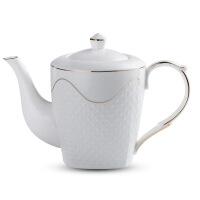陶瓷咖啡杯套装家用欧式热水壶耐热简约凉水壶水杯客厅茶壶配托盘