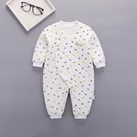 新生婴儿连体衣春秋冬宝宝满月服打底婴幼儿保暖网红可爱初生