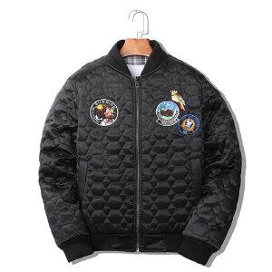 男士外套时尚韩版休闲2018秋冬季棒球领修身潮流飞行员夹克