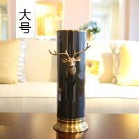 家居样板间装饰品摆件花瓶仿真花绢花插花花艺套装器皿摆设