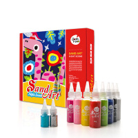 沙画彩砂沙画套装儿童沙画套装沙画儿童diy手工画益智玩具