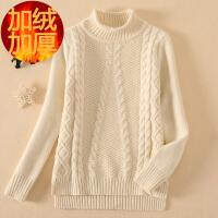 中大童毛衣女童秋冬季加绒加厚12女孩15岁儿童套头羊毛针织衫洋气