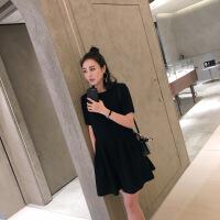 蕾丝连衣裙女春夏2019新款韩版气质大码A字中长款流行收腰裙子女