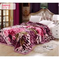 拉舍尔毛毯被子加厚保暖双层冬季珊瑚绒毯子单人双人床单学生宿舍