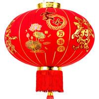 新年装饰 新年大红灯笼挂饰户外乔迁大门阳台中式宫灯喜庆装饰布置用品防水