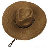 遮阳帽男夏季可折叠帽子太阳帽男士帽子大檐草帽男户外防晒帽