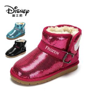 【达芙妮集团】迪士尼 冬季女童儿童童鞋雪地靴加绒靴子