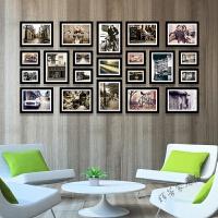 西餐厅装饰画咖啡厅酒店怀旧照片墙相框墙壁画挂画有框画
