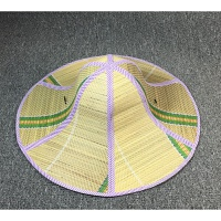 大沿草帽男 女款夏天潮可折叠遮阳太阳帽农民草帽 紫色大檐款 L(58-60cm)