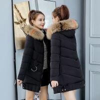 棉衣女中长款冬季外套韩版宽松加厚棉袄冬天衣服