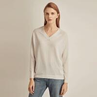 �W易�肋x 100%羊毛,女式可�C洗V�I毛衫