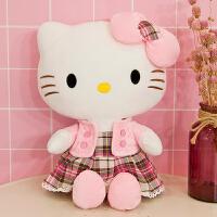 hellokitty 毛绒玩具 hollekitty公仔哈喽凯蒂猫毛绒玩具KT猫布娃娃玩偶儿童女生日
