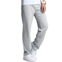 运动裤男长裤秋冬季加绒男士纯色直筒休闲卫裤针织拉链口袋健身跑步篮球裤