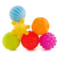 婴儿玩具手抓球宝宝3-6-12个月益智早教触觉感知可咬软胶按摩球类