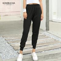 【抢购价】Kombucha女士轻薄速干宽松透气一片式腰带运动健身跑步束脚长裤JCCK8161