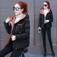 女短款2019韩版加厚面包服学生连帽冬季棉衣时尚女士外套 M 建议体重80~98斤