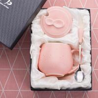 创意简约杯子 陶瓷女学生韩版马克杯带盖勺家用牛奶咖啡情侣水杯