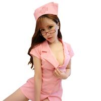 大码性感温柔胖小胸护士服激情用品套装制服sm女透明情趣内衣服 +网袜