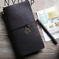 旅行日记本 旅行笔记本手工活页日记本复古旅行记事本手账本可定制创意送朋友