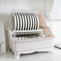 厨房装碗碟架碗筷收纳盒密封防蟑螂半翻盖防尘超特大抽屉式多功能