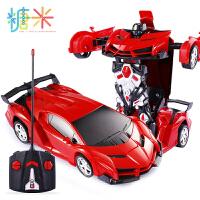 变形遥控汽车电动金刚机器人男孩儿童玩具车一键变形车