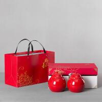 茶叶罐陶瓷礼盒包装空西湖龙井碧螺春半斤装瓜片通用茶仓logo定制