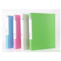 得力5203资料册 双色PP包板纸 彩色资料夹 30页文件夹 办公用品