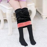 加绒加厚款儿童打底裤袜 女童秋冬季弹力高腰保暖连裤袜白色