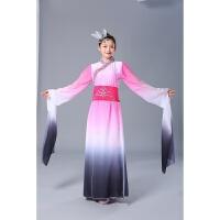 水袖舞蹈服中国风粉墨古典舞演出服女飘逸惊鸿舞古装甩袖汉服