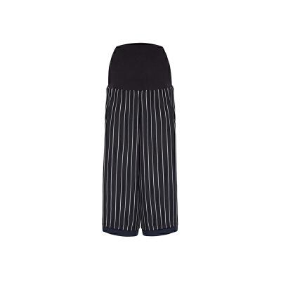 【网易严选 限时抢】孕产高腰托腹两穿阔腿裤 一裤正反可穿 面料通爽舒适