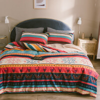 冬季加厚磨毛床上四件套全棉纯棉北欧风被套床单ins风2米床少女心