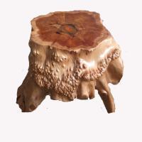 枣木墩子 衫木根雕凳子树根原木树桩盆景奇石底座花架茶几茶海凳子实木墩子