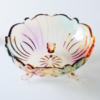 欧式水晶玻璃水果盘现代创意客厅家用茶几篮大号糖果干果沙拉盆