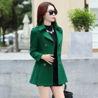 小个子毛呢外套女中长款秋冬30-40-50岁韩版修身显瘦呢子大衣