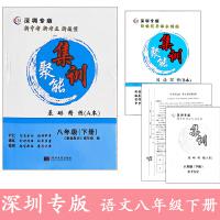 2021深圳专版 新中考 聚能集训基础精练 语文八年级下册 含A本基础精练+B本阅读写作 和答案解析 紧扣2021中考新