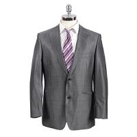 Youngor/雅戈尔商务正装两扣羊毛蚕丝灰色西服上衣TX23493-12DGB(西服上衣单卖 拆套出售)