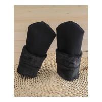 秋冬季袜子女加绒天鹅绒肉色短袜保暖防冻防裂老人加厚地板地毯袜