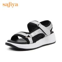 Safiya/索菲娅夏季舒适中跟运动休闲风凉鞋女SF92115023