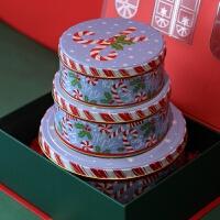 冬日熊仔圆形小熊曲奇饼干口铁盒燕窝糖果盒包装盒新年礼盒1